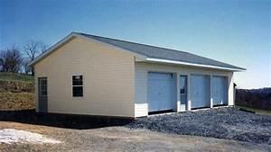 three car garage kits neiltortorellacom With 3 car pole barn