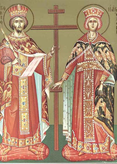 """Sfinţii constantin şi elena, """"cei întocmai cu apostolii', sunt pomeniţi în biserica ortodoxă pe 21 mai. Sfintii Constantin si Elena"""