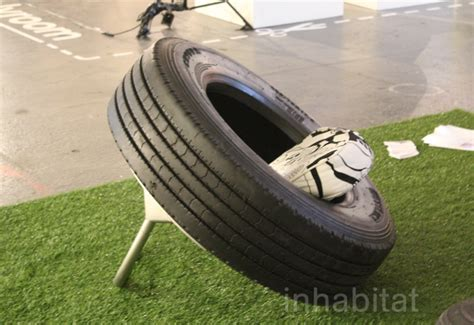 rene olivier transforms recycled auto tires into comfy
