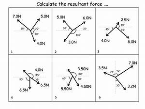 Calculating Resultant Forces  Worksheet   Answers