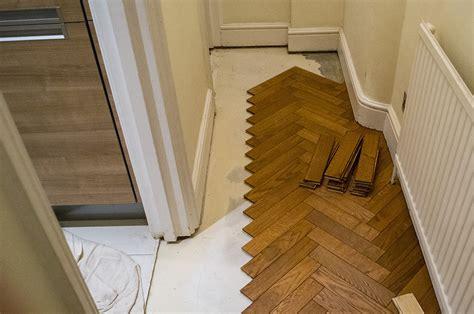 parquet flooring stairs 3 oak news installation of parquet oak flooring in marylebone
