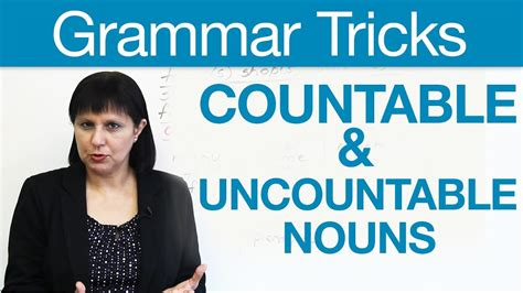 English Grammar Tricks  Countable & Uncountable Nouns · Engvid