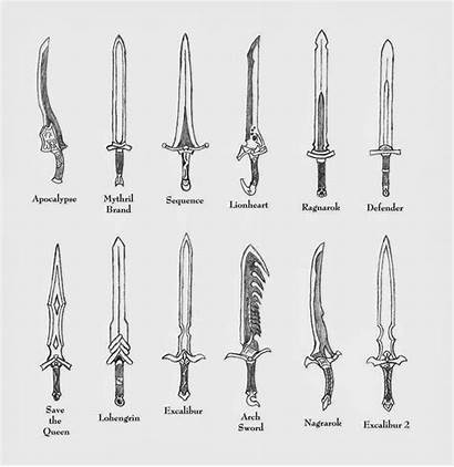 Weapons Sword Drawing Swords Weapon Fantasy Deviantart