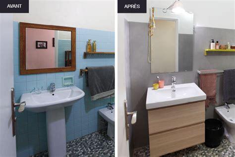 peindre carrelage salle de bain avant apres chaios com
