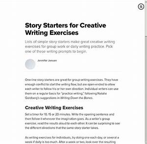 Reddit creative writing stories Help for a true beginner? Or