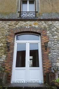 auzeo habitat nos realisations portes d39entree pvc With porte d entrée double battant