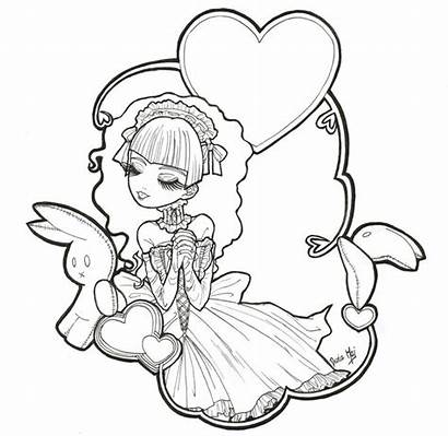 Coloring Gothic Pages Anime Goth Fairies Fairy