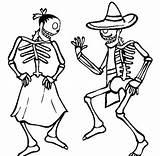 Skeleton Coloring Dancing Couple Anime Netart Cartoon sketch template