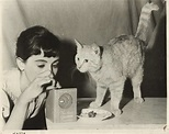 "MILLIE PERKINS & MOUSCHI (The Cat) in ""The Diary of Anne ..."