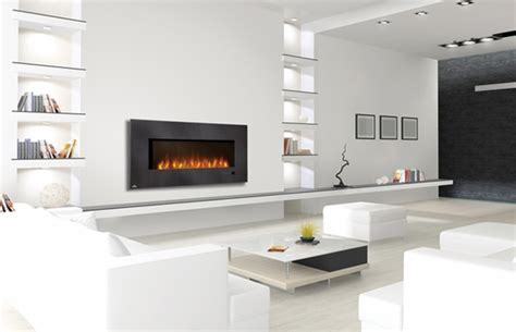 Mounted Electric Fireplace With