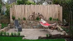 Kleiner Gartenzaun Holz : sichtschutz im kleinen garten youtube ~ Bigdaddyawards.com Haus und Dekorationen