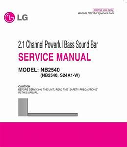 Lg Nb2540 Sound Bar System Original Service Manual And