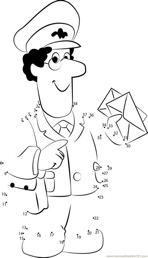 postman pat dot to dot printable worksheet connect the dots