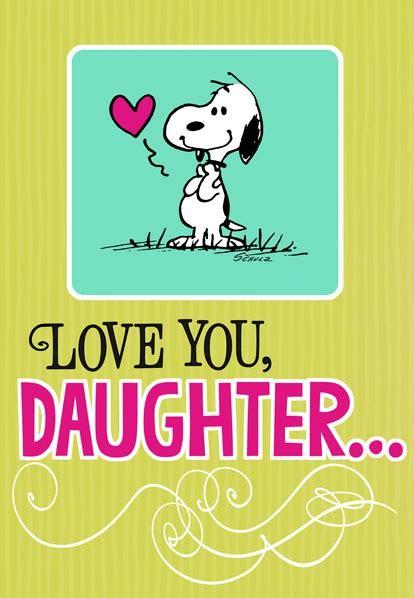 snoopy hug  daughter birthday card greeting cards