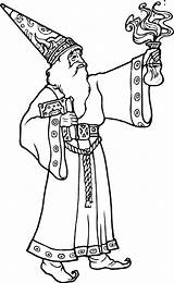 Wizard Coloring sketch template