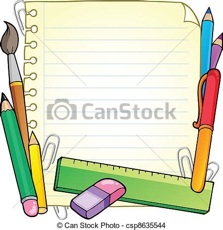 eps vector of notepad blank page and stationery 1 vector illustration csp8635544 search