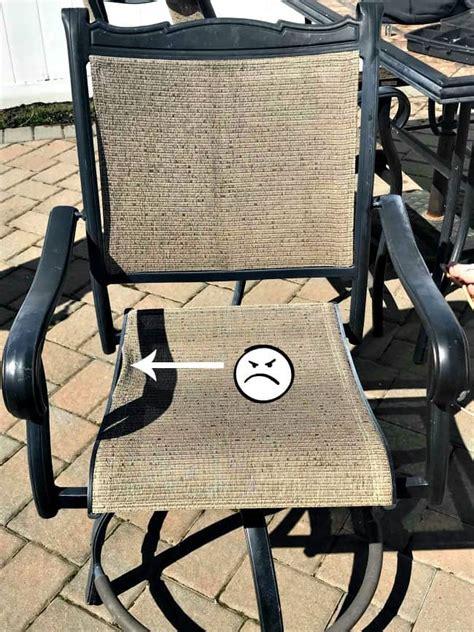 save  money  diy patio chair repair