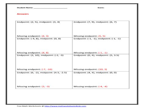 Worksheet Midpoint And Distance Formula Worksheet Grass Fedjp Worksheet Study Site
