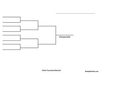 printable  team single elimination tournament