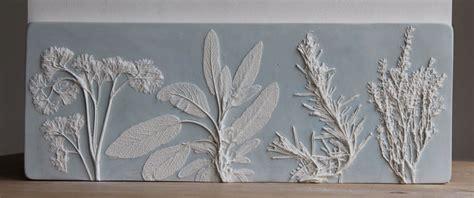 uk artist  fossil flowers  casting   plaster