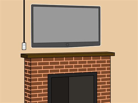 How To Mount A Fireplace Tv Bracket 7 Steps With Pictures