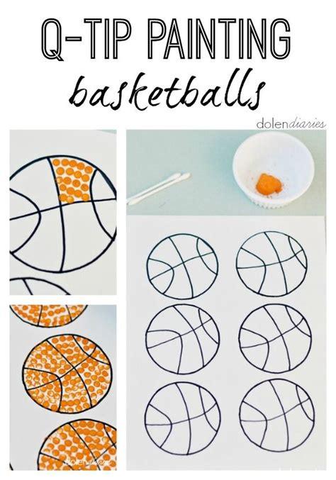 q tip painting basketballs editor fingers and q tip 724 | e1831d15da1b1e6c78a374d88ddd8535 sports theme kindergarten preschool basketball crafts