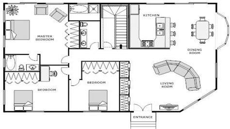 House Floor Plan Blueprint Simple Small Plans Modern Stock