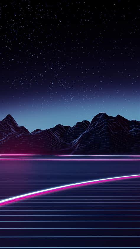 Download Neon Highway 2160x3840 Resolution, Hd 4k Wallpaper