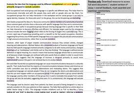 language  occupation  student essay  level english language teaching resources