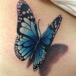 3D butterfly tattoo | Tattoos | Pinterest