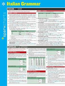 Spark Charts Italian Grammar Sparkcharts By Sparknotes Other Format