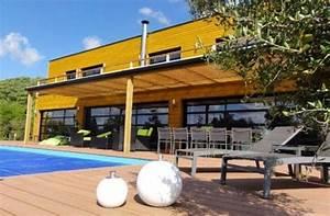 Maison Ossature Bois Toit Plat : maison bois toit plat avec piscine tempobois maison en bois pinterest ~ Melissatoandfro.com Idées de Décoration