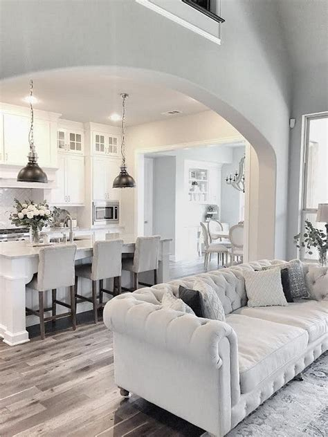 Kitchen Sitting Room Ideas - love this fresh clean white kitchen accented with touches of grey home decor pinterest