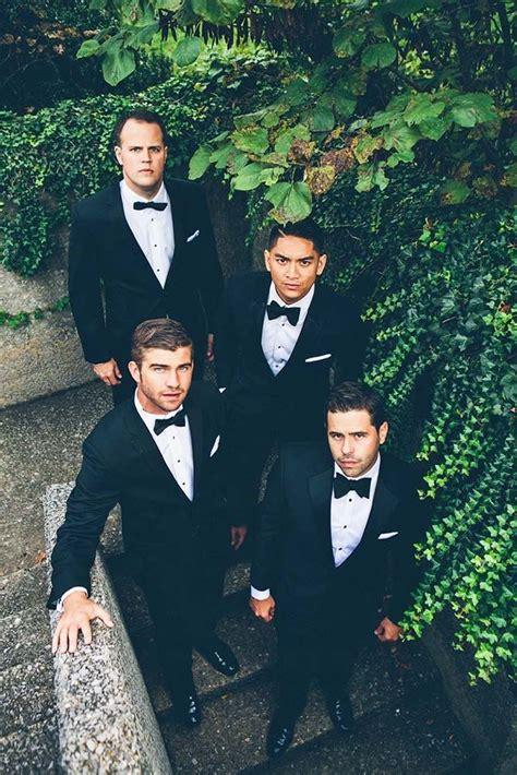 17 Best ideas about Black Groomsmen Suits on Pinterest   Groomsmen attire black Black tux and ...