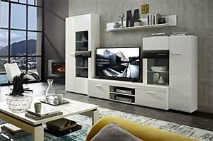 Wohnwand Weiß Günstig : wohnwand weiss hochglanz schwarz struktur mit beleuchtung wohnwand ~ Eleganceandgraceweddings.com Haus und Dekorationen