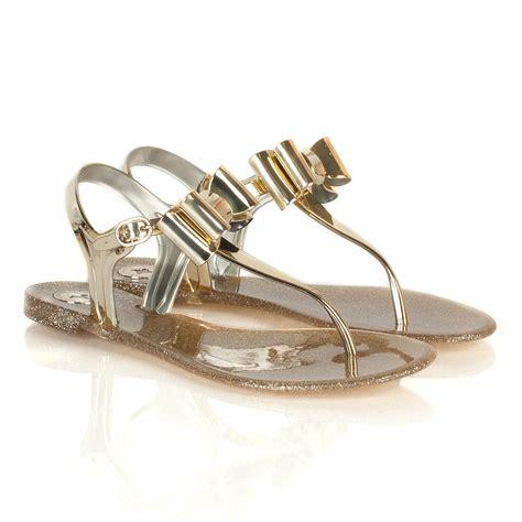 designer jelly sandals bcbgeneration gold flat jelly sandals