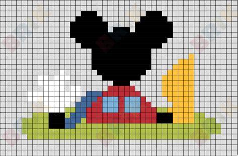 mickey mouse clubhouse pixel art brik