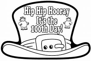 100 days of school coloring pages download free With 100th day hat template