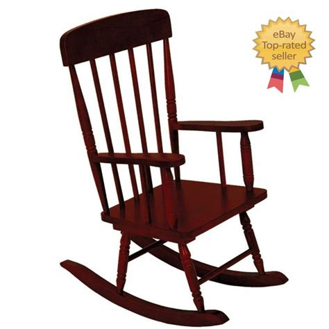 spindle chair rocking wood furniture arms vintage