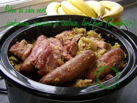 chou cuisine recettes de chou vert et lard