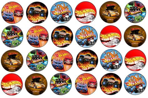 hot wheels edible rice paper toppers cm  cm