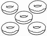 Donuts Donas Getcolorings Coloringfolder Colo sketch template