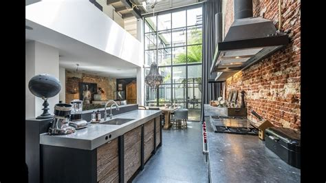 interior design industrial loft  amsterdam youtube