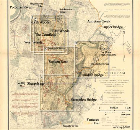 antietam tablet location maps