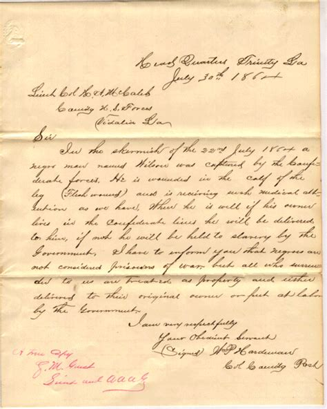 civil war letters black soldiers in the civil war