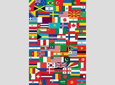 World flags background vector illustration Stock Vector