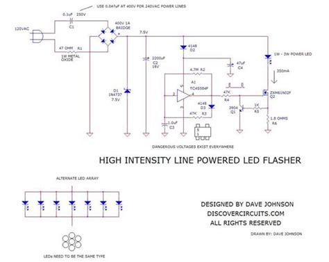 High Intensity Line Powered Led Flasher Dec
