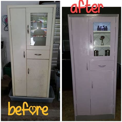 metal kitchen pantry cabinet vintage metal utility pantry cabinet gets madeover hometalk 7465