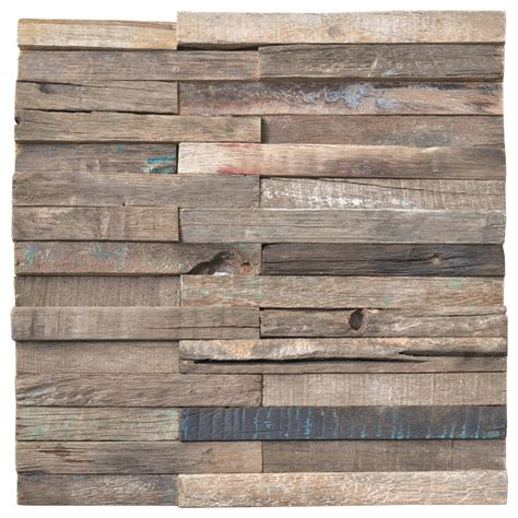 wood wall tiles reclaimed wood mosaic rustic panels 11 tiles per box 10 66