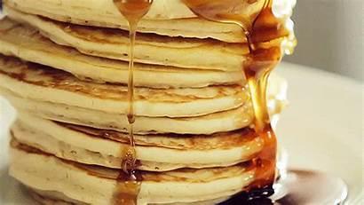 Syrup Maple Breakfast Gifs Pancake Honey Pancakes